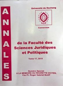 """Première de couverture des """"Annales""""."""